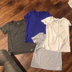 Set of 4 Nike Dry Fit Women's Tees